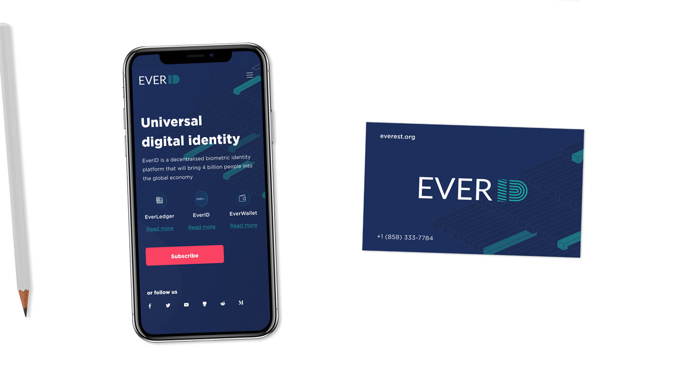 Branding for EVERID: the dawn of the Biometrics